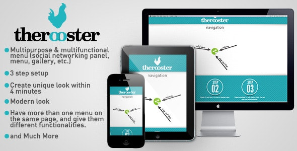TheRooster Multipurpose Menu - CodeCanyon Item for Sale