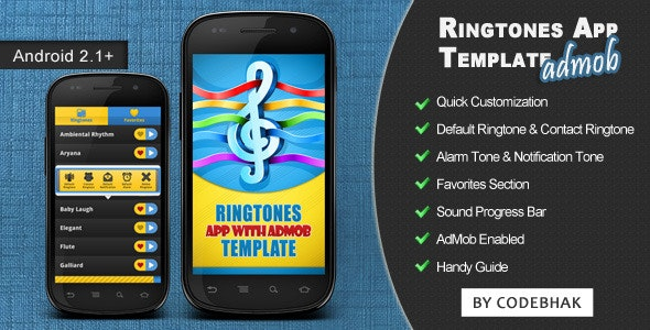 Ringtones App Template with AdMob - CodeCanyon Item for Sale