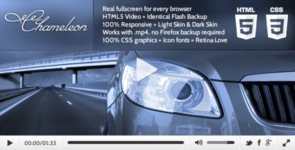 Chameleon - HTML5 Video Player with Flash Backup - CodeCanyon Item for Sale