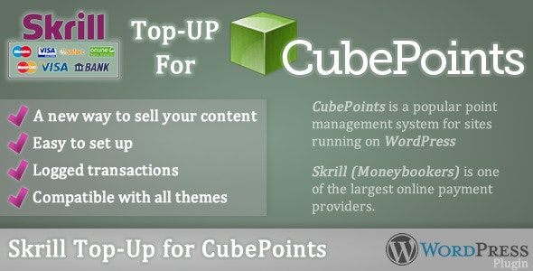 Skrill Top-up for CubePoints - CodeCanyon Item for Sale