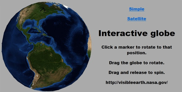Interactive 3D Globe - CodeCanyon Item for Sale