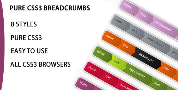 Pure Modern Css3 Breadcrumbs