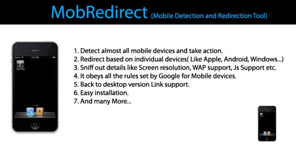 MobRedirect - Mobile Detection and Redirection
