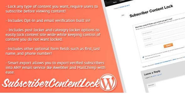 Subscriber Content Lock for WordPress