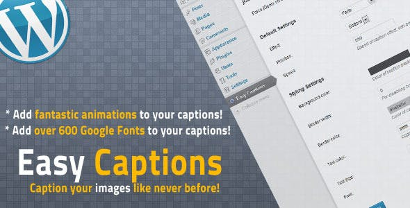 WP Easy Captions with Google Fonts