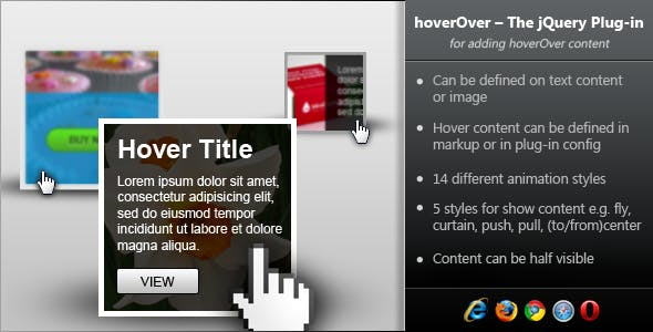 hoverOver - jQuery Plugin for Adding Hover Content