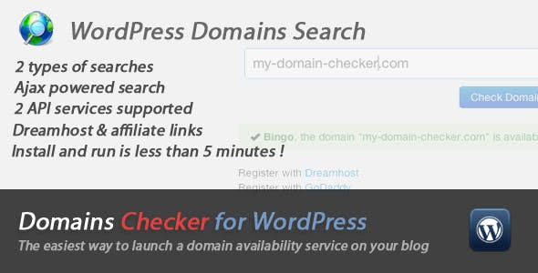 Domains Names Checker for WordPress