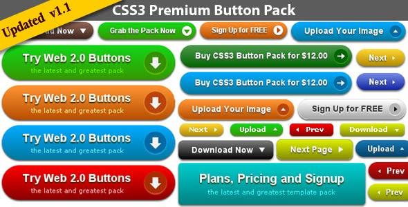 CSS3 Premium Button Pack