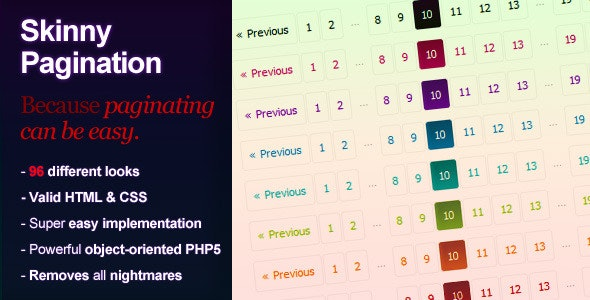 Skinny PHP Pagination - CodeCanyon Item for Sale