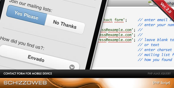 AJAX Mobile Contact Form - CodeCanyon Item for Sale
