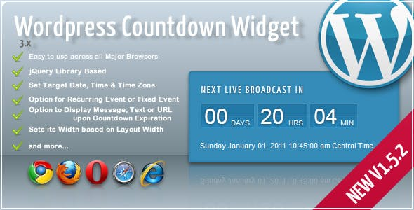 Broadcast Countdown Widget