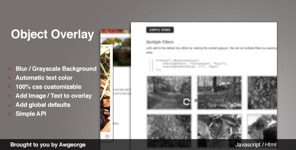 jQuery Object Overlay