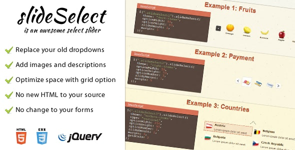 SlideSelect - Replace your dropdowns - CodeCanyon Item for Sale