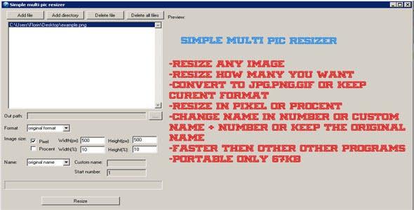 Simple multi pic resizer