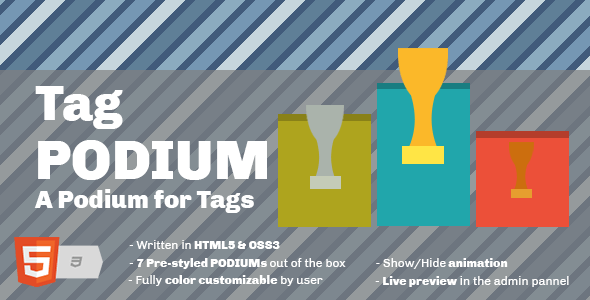 Tag Podium - A Podium for Tags Widget - CodeCanyon Item for Sale
