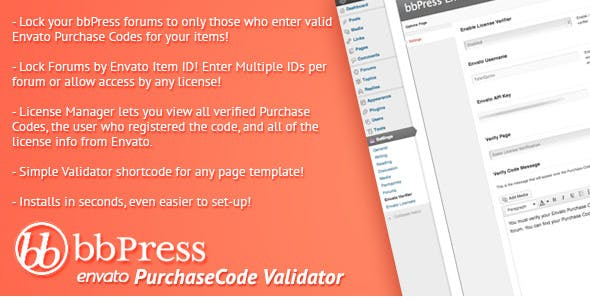 Envato Purchase Code Verifier for bbPress