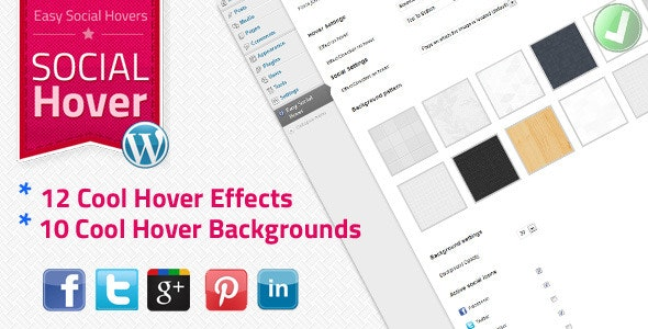 WP Easy Social Hover - CodeCanyon Item for Sale