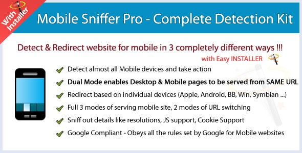 Mobile Sniffer Pro - Detection & Redirection Tool - CodeCanyon Item for Sale