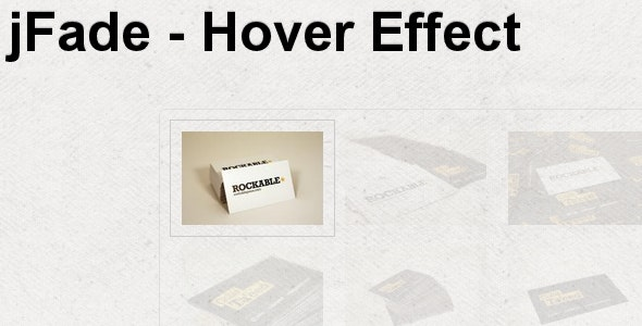 jFade - jQuery Hover Effect - CodeCanyon Item for Sale