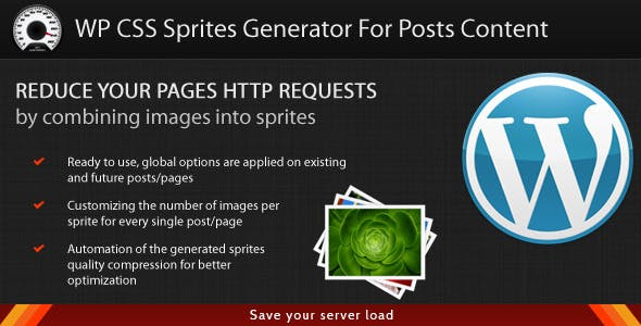 WordPress CSS Sprites Generator For Posts Content