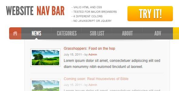 Website in a Navigation Bar