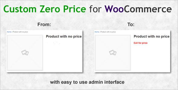 Custom Zero Price for WooCommerce