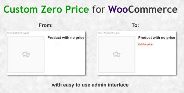 Custom Zero Price for WooCommerce - CodeCanyon Item for Sale