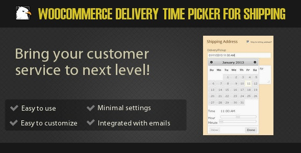 Woocommerce Delivery Time Picker for Shipping - CodeCanyon Item for Sale