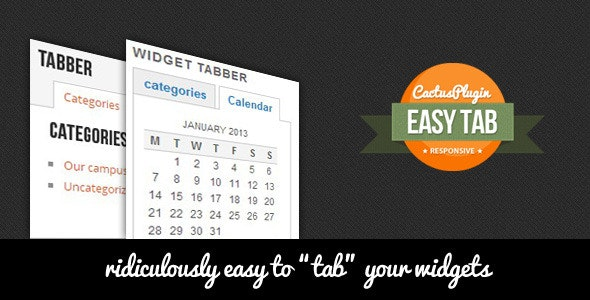Easy Tab Wordpress Widget - CodeCanyon Item for Sale