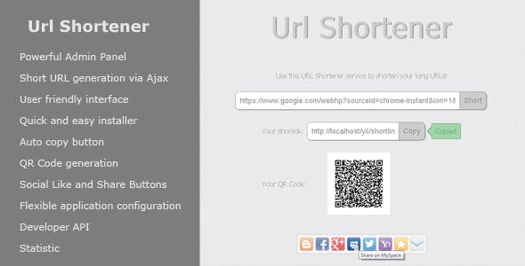Url Shortener - CodeCanyon Item for Sale