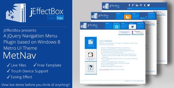 MetNav- A jQuery navigation menu based on Metro UI - CodeCanyon Item for Sale