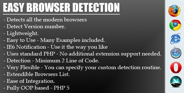 Easy & Quick Browser Detection - CodeCanyon Item for Sale