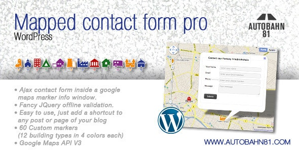 Mapped contact form pro WordPress - CodeCanyon Item for Sale
