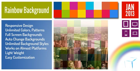 Rainbow Background jQuery Plugin