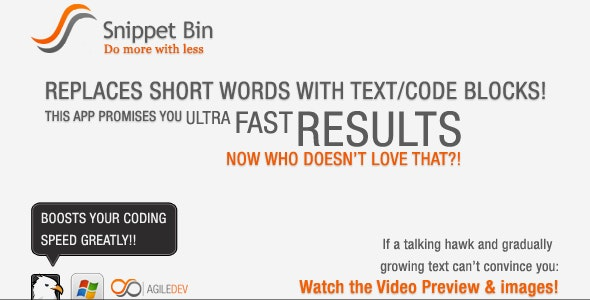 Snippet Bin - CodeCanyon Item for Sale