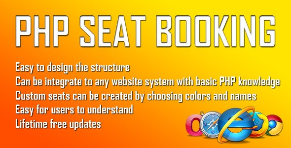 PHP Seat Booking system - CodeCanyon Item for Sale