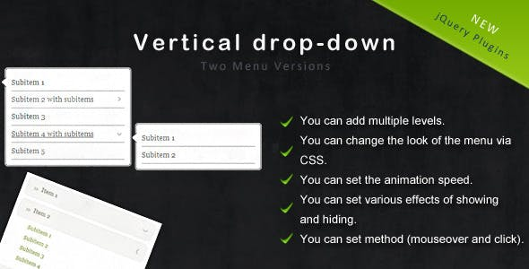 jQuery Vertical Drop-Down Menu