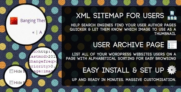 Users Sitemap & Archive - WordPress Plugin - CodeCanyon Item for Sale