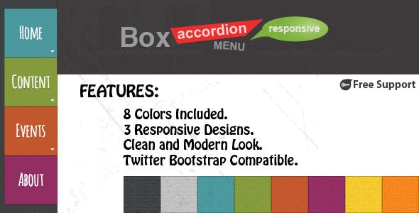 Box Accordion Menu - Responsive