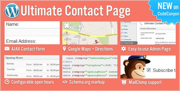 Ultimate Contact Page  - CodeCanyon Item for Sale