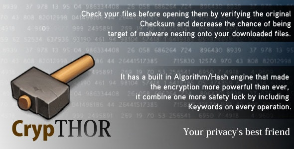 CrypTHOR - Advanced Encryption Software - CodeCanyon Item for Sale