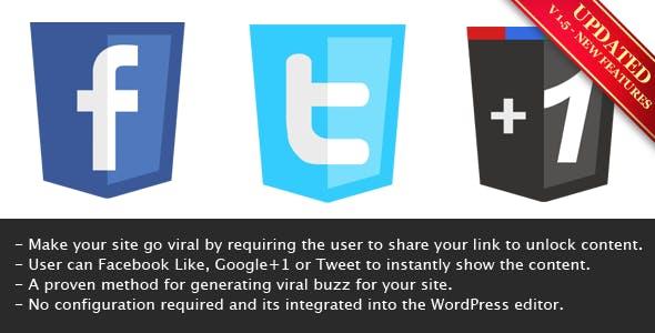 Viral Lock - Like, Google+1 or Tweet to Unlock        Nulled