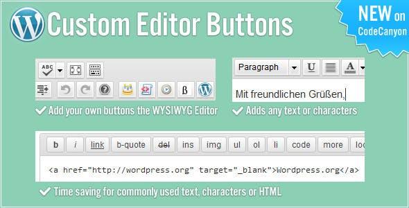 Custom Editor Buttons