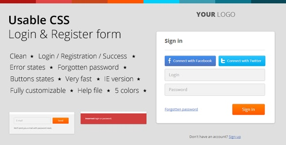 18 Best CSS Forms  for September 2020