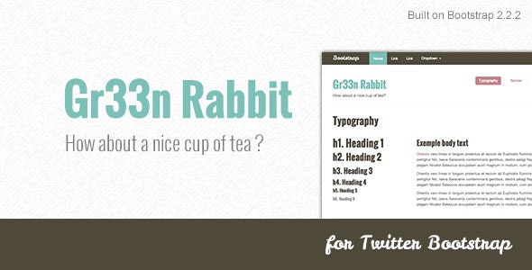 Gr33n Rabbit - Bootstrap skin - CodeCanyon Item for Sale