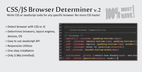 CSS/JS Browser Determiner - CodeCanyon Item for Sale