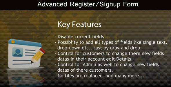 Advanced Register/Signup form