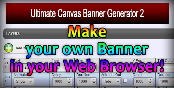 Ultimate Canvas Banner Generator