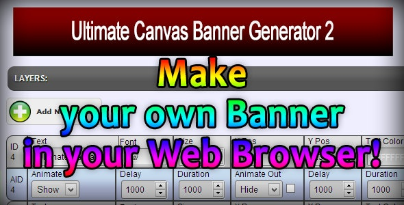 Ultimate Canvas Banner Generator - CodeCanyon Item for Sale