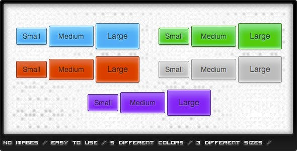 Glossy CSS3 Buttons
